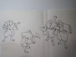 筑紫舞絵馬イラスト