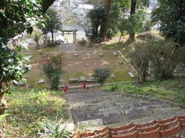 1稲元拝殿跡上から観