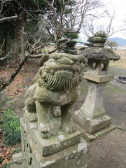 1水原天満狛犬・燈籠・社殿