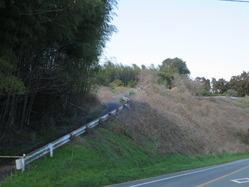 1楢の木坂上部の鞍部への上り口