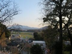 稲元八幡宮前面の景色