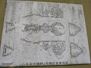 2大谷1号墳石室図