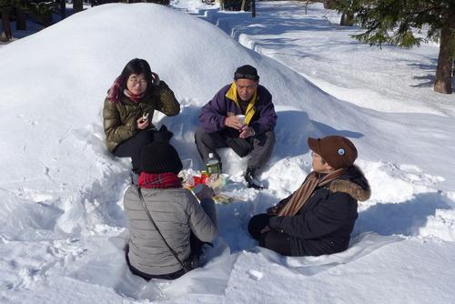 ランチを雪の中で!安田侃彫刻美術館アルテピアッツア美唄の過ごし方!!