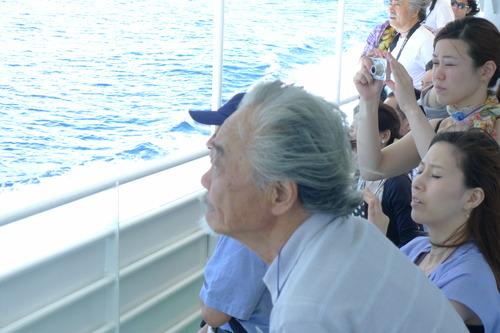 阿久井喜孝名誉教授と軍艦島へ。