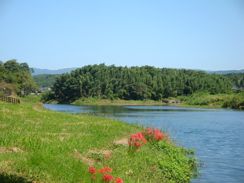 これも菊池の文化資源~菊池川でカヌーを!2013.9.16