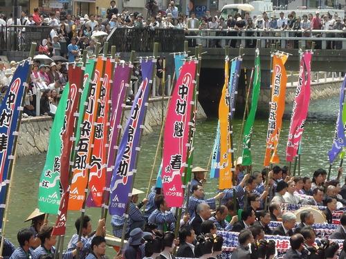 六月博多座大歌舞伎!のぼりも鮮やかに華麗な船乗り込み!