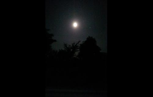 竹田市から見上げたストロベリームーン、6月の満月です。いよいよ6月18日(火)夜は月宮殿祭!!