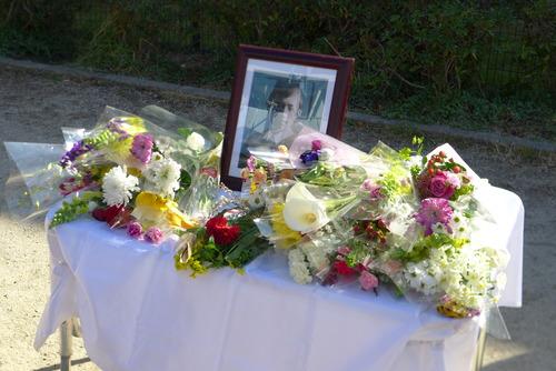 20190217(日)晴れ渡る冬空の下、尹東柱詩人の命日の翌日開催の追悼式に参加しました。