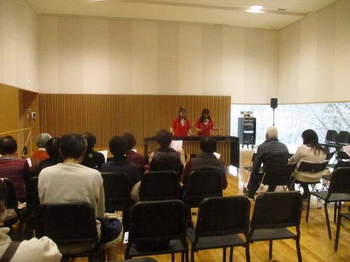 富岡町「学びの森」で「みんなで楽しく地域交流コンサート」が開催されました。2019.2.3