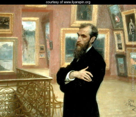 Portrait-of-Pavel-Tretyakov-(1832-98)-in-the-Gallery,-1901[1]