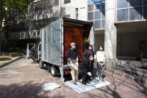 天草へ、ふ印ラボ店じまいの搬送先のひとつは天草市下浦町千葉平五郎石材工場へ!!