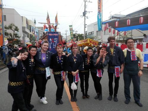 牛深ハイヤ祭り今年は留学生ががんばりました!2015.4.18-19