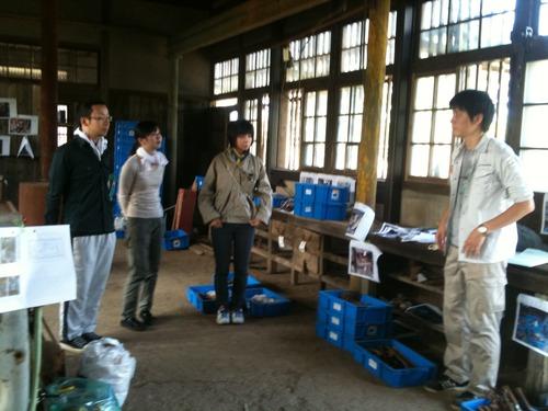 2011.8.10.熊本県荒尾市 万田坑工具再配置作業に参加しました ver.2