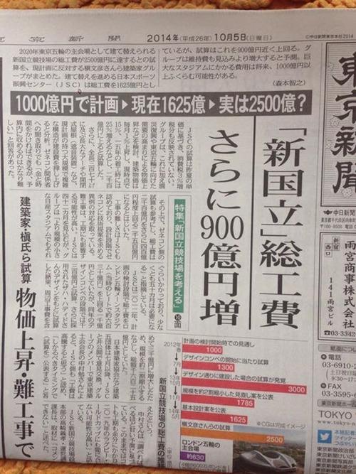 2020年東京オリンピックにかかる費用!