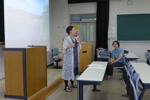 芸術文化環境論のゲスト講師は福田裕美先生と増田久未さん