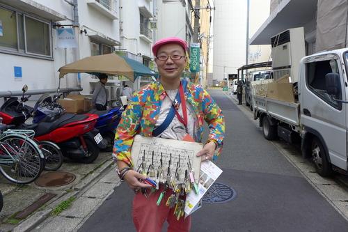元気なサンダーさんと再会!2018年10月20日(土)福岡の都市観察を少人数ゼミ「芸術情報総合演習」で展開しました!