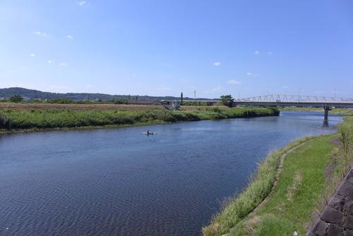 カヌーにのって菊池川の魅力に触れていく