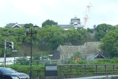 20190616早朝より熊本地震被災の熊本城の復興状況を踏査!