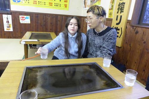 山下真智子さん花比女ちゃん、高専ダゴに歓喜!