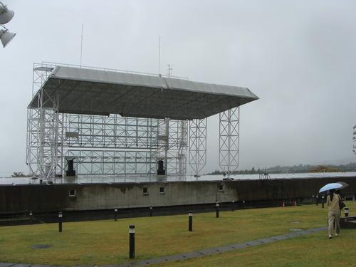 2011年10月30日(日)後期公開講座「千年風土建築文化とフェスティバル」学外演習としての 「熊本阿蘇地方における神楽祭礼と阿蘇山風土をめぐって」