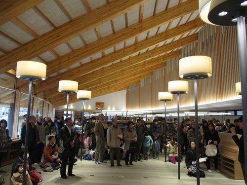 基山町立図書館の内覧会とエミュー試食会、きやまかっぽに行って来ました!2016.2.7(日)