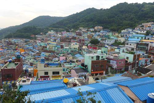 速報!韓国創造都市の歩きかた2014夏の実地編〜その1 釜山の40階段、甘川文化村〜