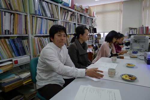香港からのお客さま。クイニーさん、日本の食事はどうですか?