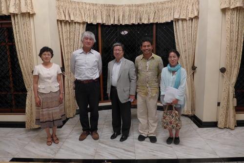 インドネシア・バリ州日本総領事館の柴田和夫総領事ご夫妻と面談