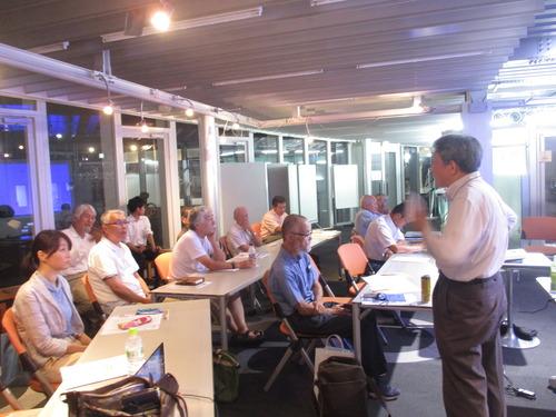 九州産業技術史研究会8月定例会で池森寛先生による水車の講演が行われました。2017.8.22