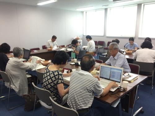 2015.7.14 福岡県田川市 福岡県立大学  森山沾一先生主宰の「山本作兵衛を<読む>会」に参加させていただきました
