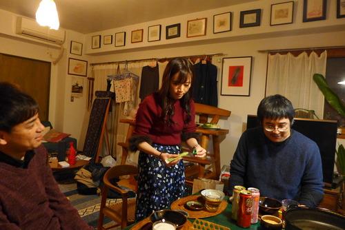 最終講義の夜の藍蟹堂家食卓!