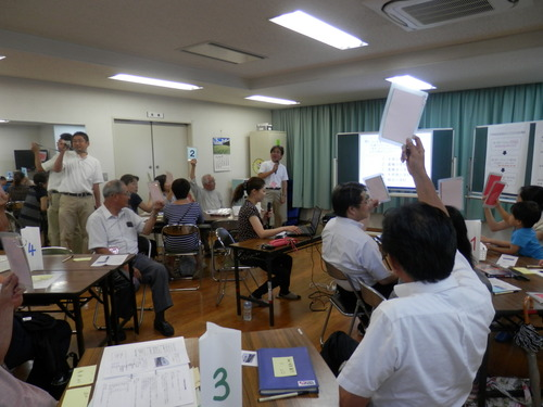 始まりました!梅田和久さん(研究室同人)による安全安心マップづくりワークショップ!!2014.9.25