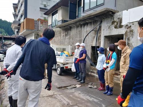 NPO法人リエラから日田市天ヶ瀬水害被災地支援の現況報告!
