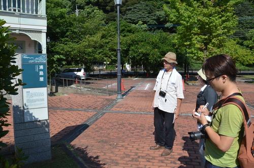 天草下浦フィールドワーク2015第4回研究会開催。サプライズゲストに小山薫堂さん。ふ印ボス先生とのラジオ収録に登場!