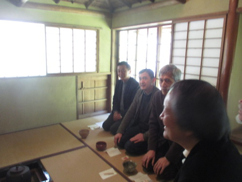 素晴しいお茶室で楽茶会をしました。2016.3.27(金)