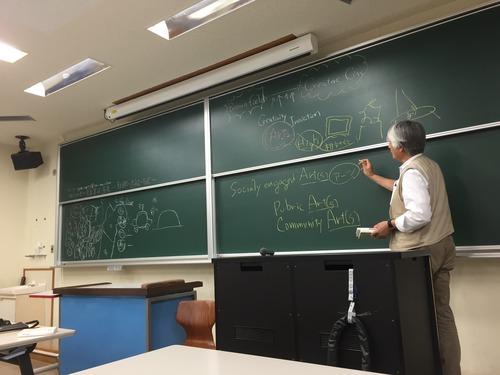 2016.4.22(金)芸術・文化環境論の授業が行われました。