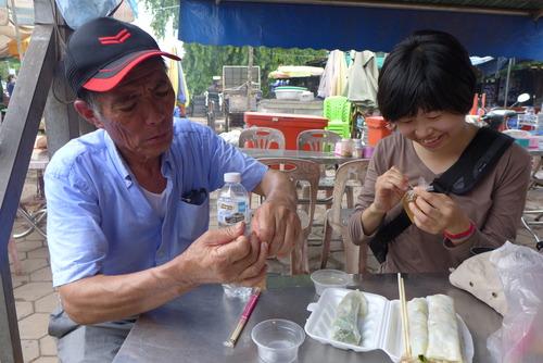ふ印ラボのカンボジア踏査、高口葵さんリビングヘリテイジ現況把握ならびに千葉順次さん石工ボランティアの可能性検討というミッション!