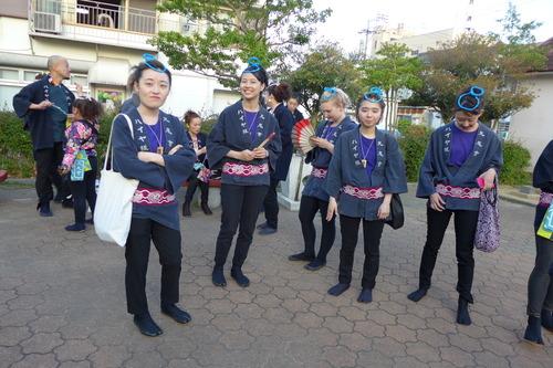 2018年4月21日(土)夜の牛深ハイヤ祭り道中総踊りに汗流す!