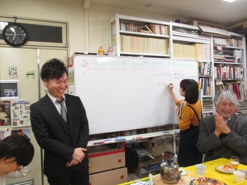 卒業式と修了式後に研究室の謝恩会を行いました。2016.3.25(金)