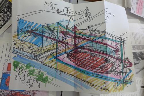 2020年8月28日(水)ふ印ラボ藤原惠洋研究室店じまい作業で出てきた宝物〜陽を見なかった八女市町村会館リノベーションプロジェクト案