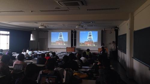 2015.6.29学部「芸術文化環境論」特別講義でゲスト:國盛麻衣佳さん、藤原旅人さん、江上賢一郎さんからお話をいただきました。