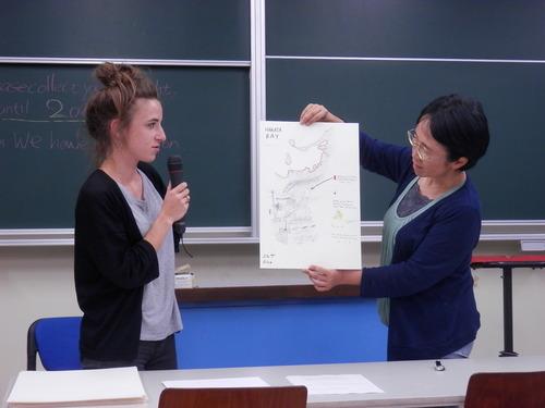 大学院授業「芸術文化・環境論」あなたのブラウンフィールドを描いて下さい。2015.6.5