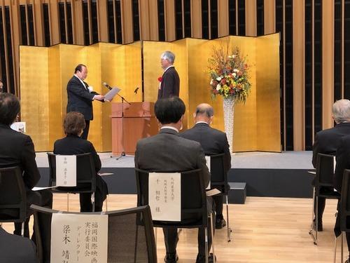 「水上に浮かぶ舞台」柳川市民文化会館が12月20日(日)開館!感謝状をいただきました!
