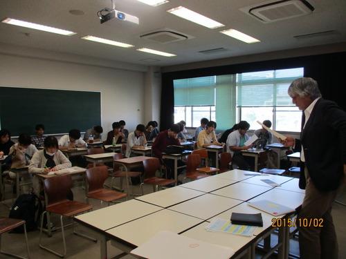 芸術文化企画演習の第1回目授業-2015.10.2(金)