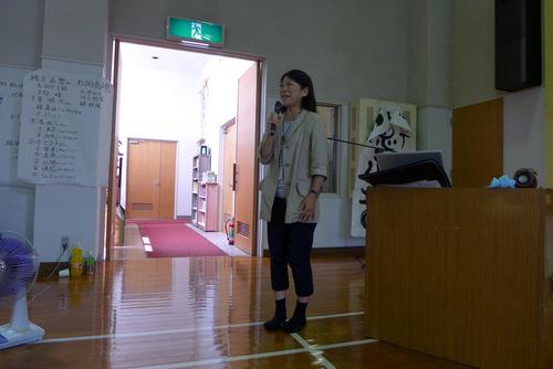 パブリックアート研究者秋葉美知子さん、2014天草・下浦フィールドワークで集中講義・公開発表会審査、そしてコメンテーターを!