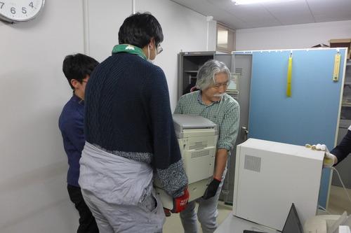 研究室片付けサポーターチーム大活躍!