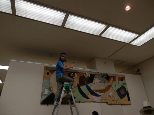 福岡県立美術館で開催された「日比野克彦〈ONE NIGHT A DAY〉公開設置」を見てきました。2014.10.5