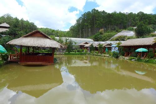 Minh Hanh女史と歩く〜Da Latの丘陵に「魚のモンスター」の名の不思議な淡水魚養殖レストラン!
