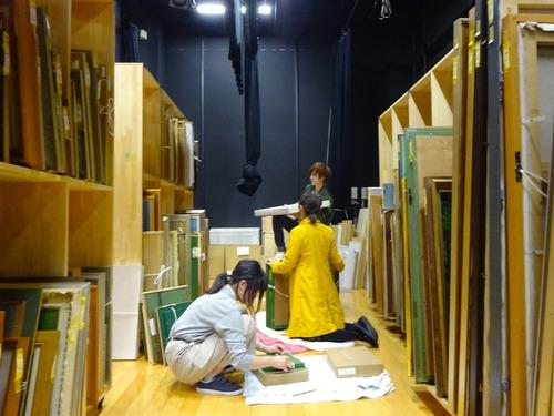 2017.4.9 菊池惠楓園 金曜会の絵画保存活動を行いました