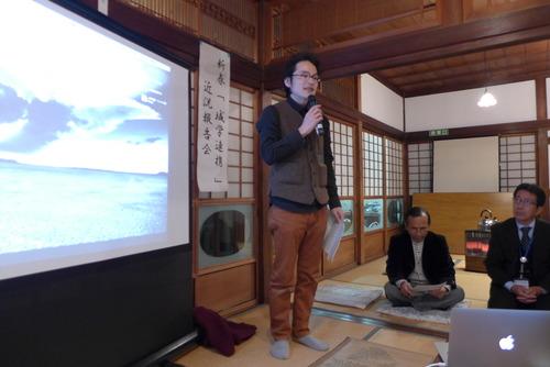 菊池域学連携事業実行委員会の有志が集まり新年会を催しました!2015年1月15日(木)夜。